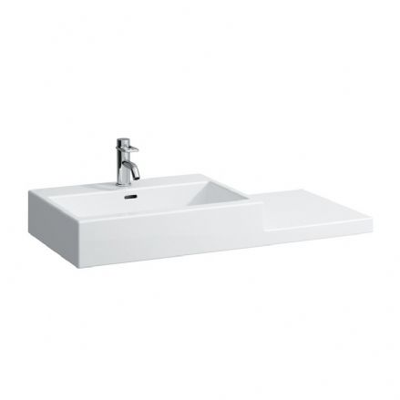 818432 - Laufen Living City 1000mm x 460mm Washbasin (Right Shelf) - 8.1843.2